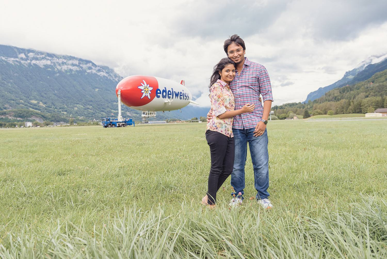 Indian couple photo shoot Interlaken
