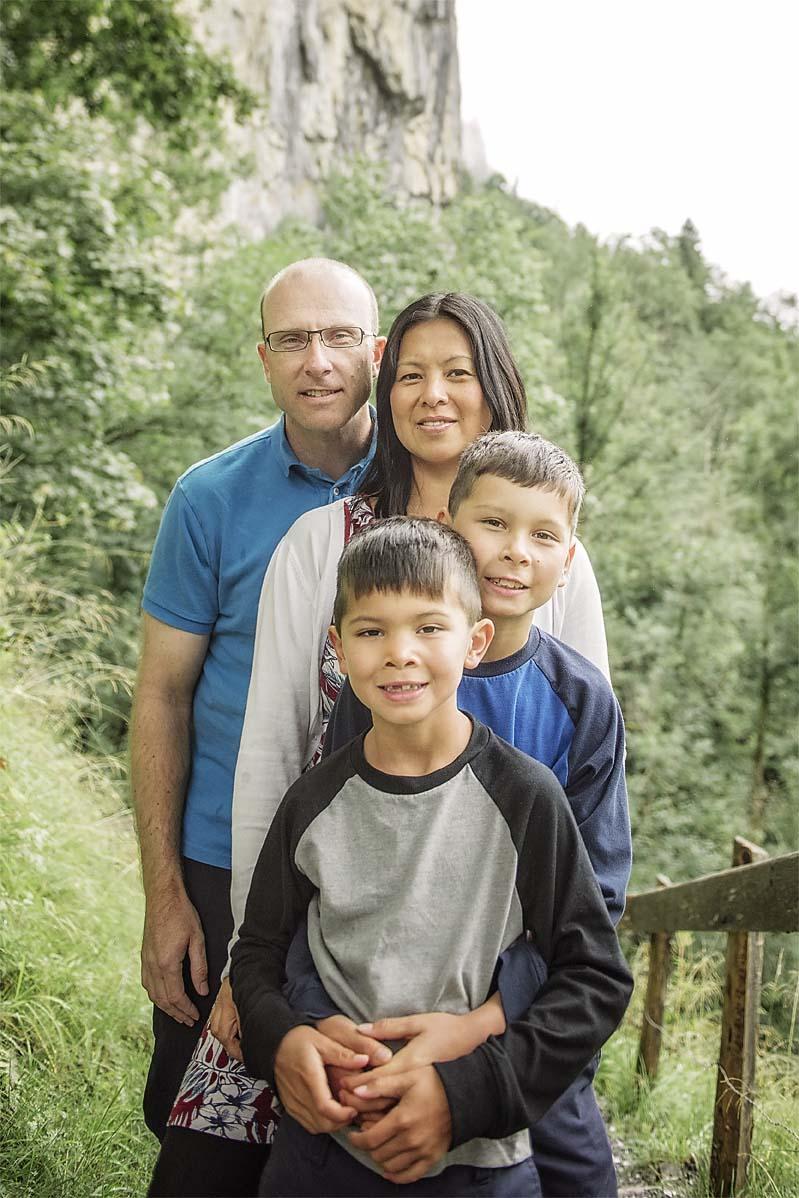 Canadian family photo shoot