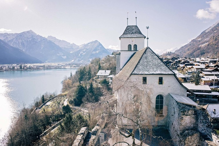 Ringgenberg Church and Castle, Switzerland
