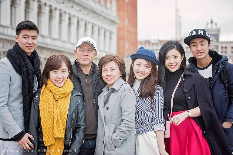 Visitors in Venice Italy