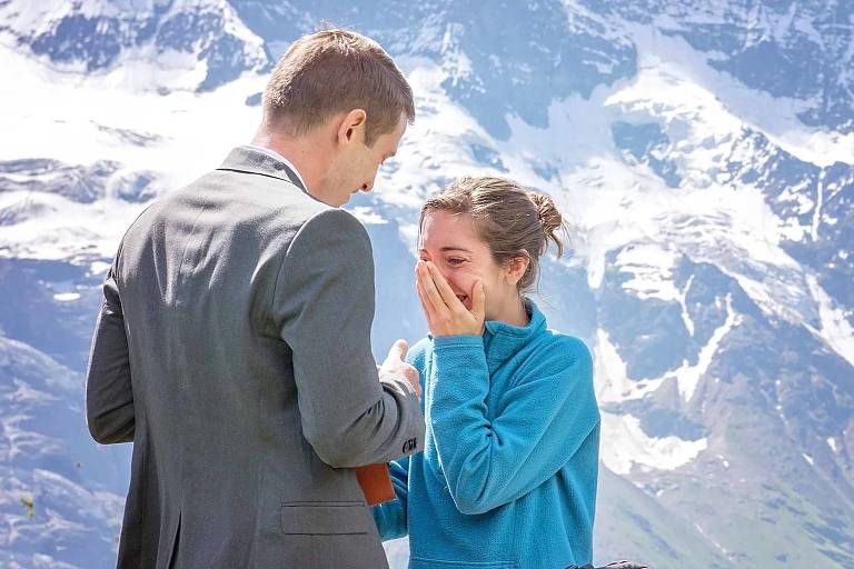surprise wedding proposal