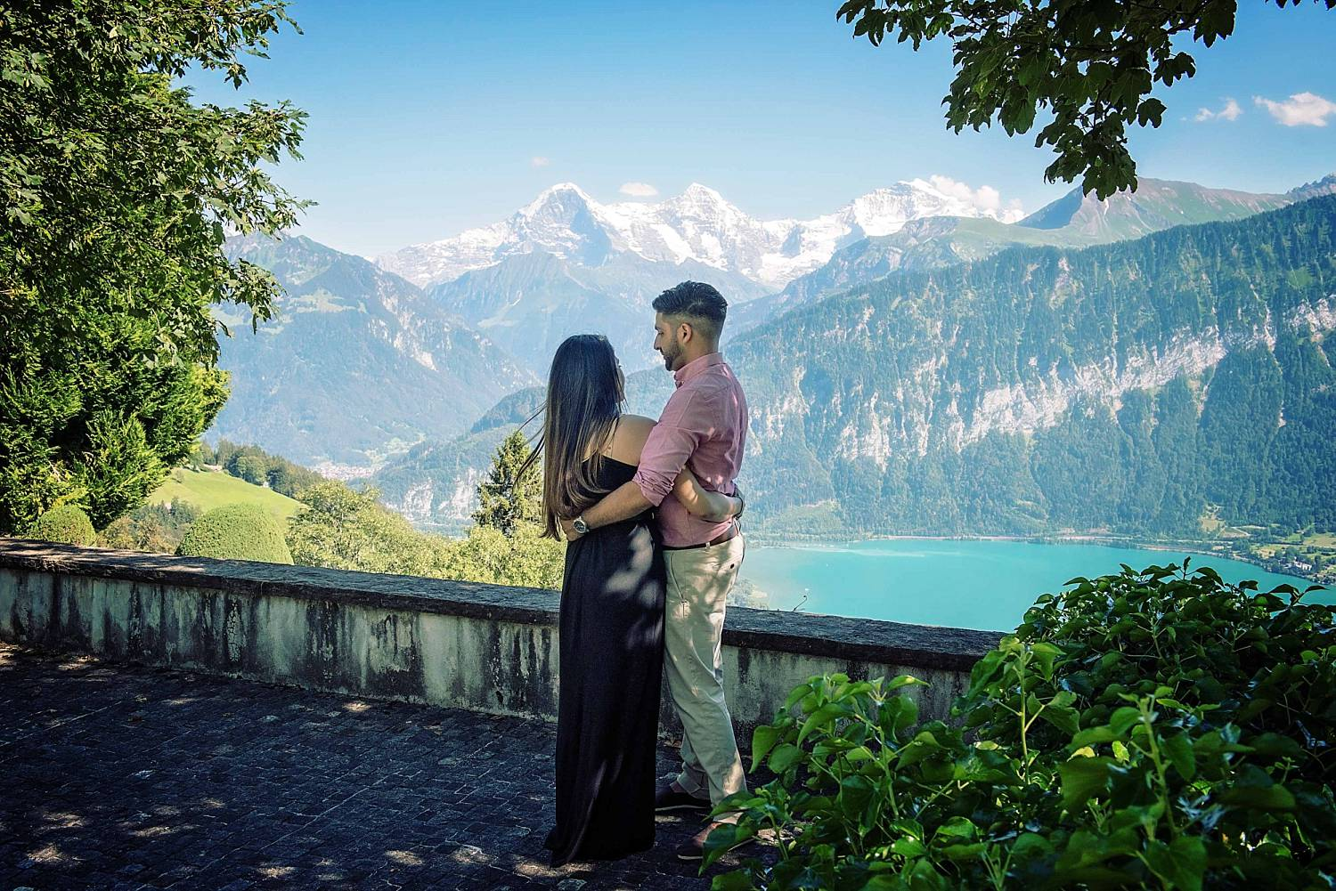 surprise wedding proposal in the alps