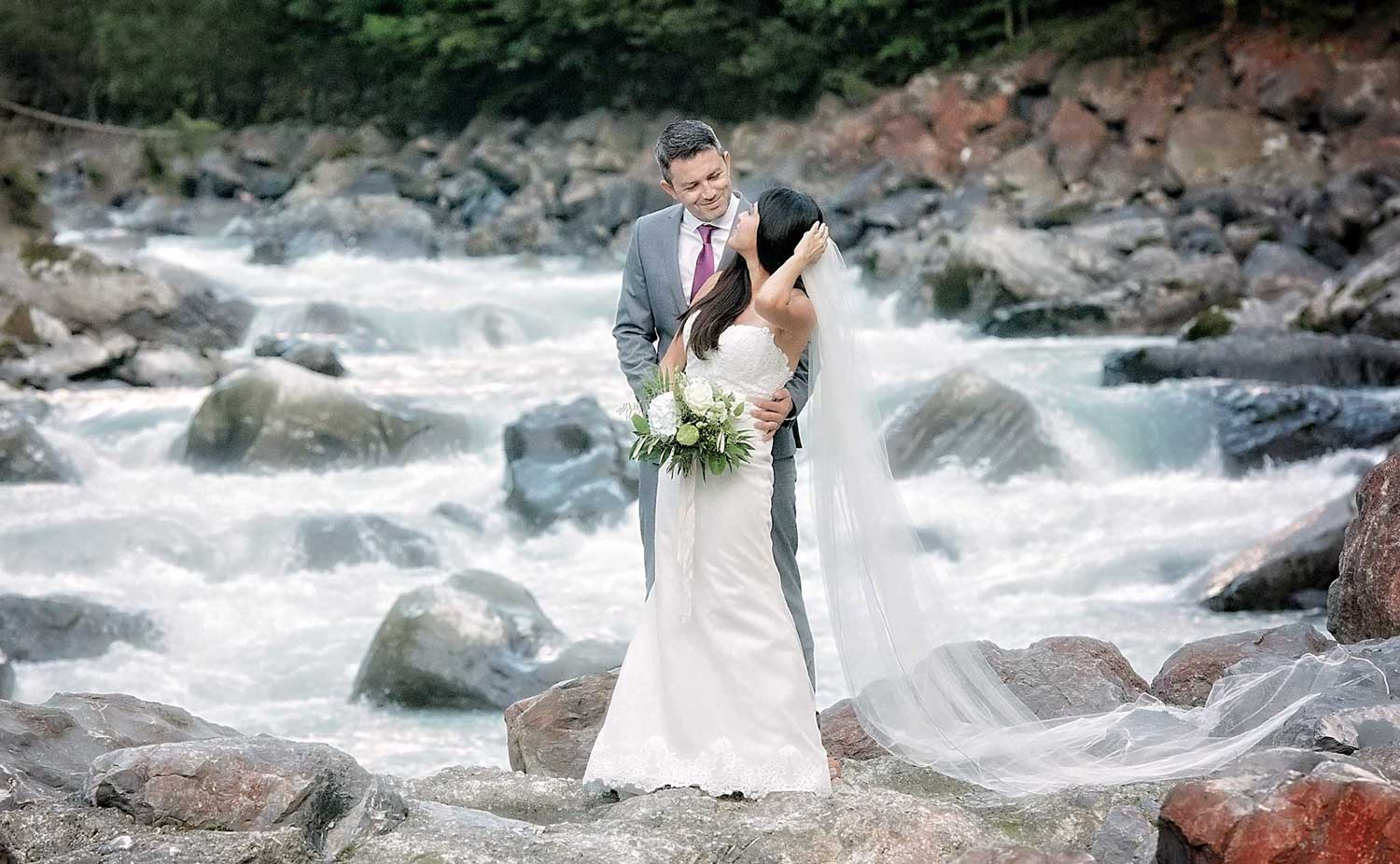 Bridal photo shoot in Interlaken