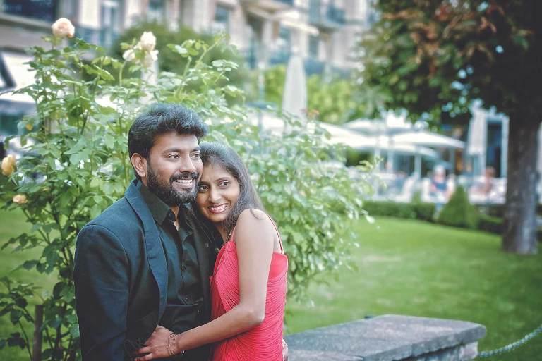 Honeymoon couple photo shoot in Interlaken, Switzerland