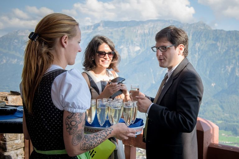 Wedding on the Harder Kulm