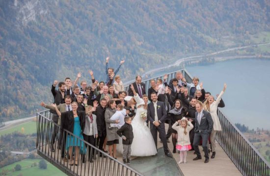 Photographer for wedding on the Harder Kulm. A restaurant on a mountain overlooking Interlaken, Switzerland