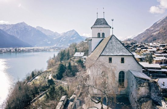 The church and castle in Ringgenberg