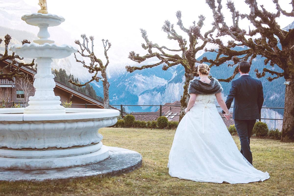 Post wedding photo shoot Wengen