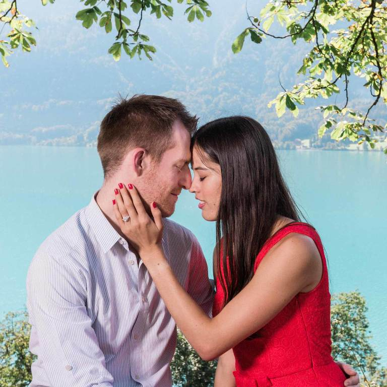 Couple photo shoot at Ringgenberg castle