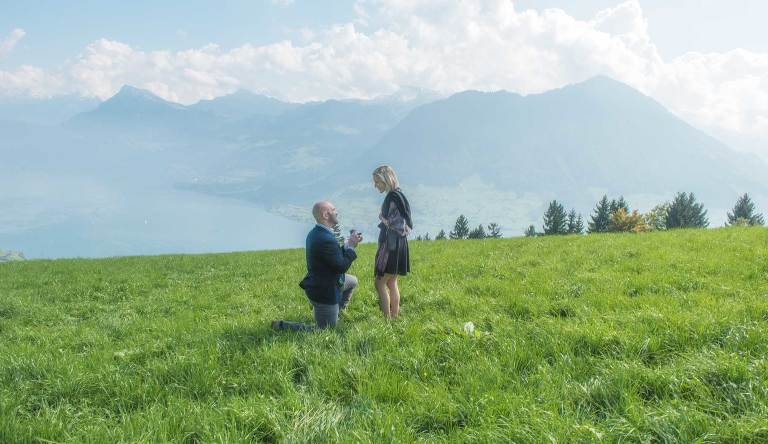 surprise Marriage Proposal, Lucerne