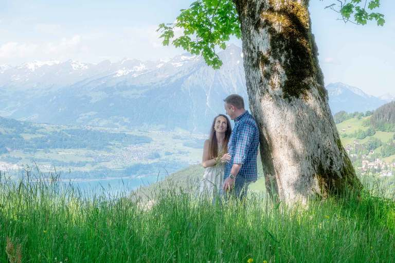 Couples engagement photo shoot, Interlaken, Switzerland
