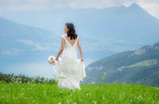 Photographer for bridal photo shoot Interlaken switzerland