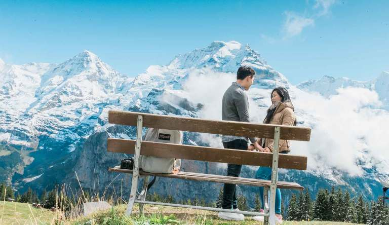 marriage proposal in Murren