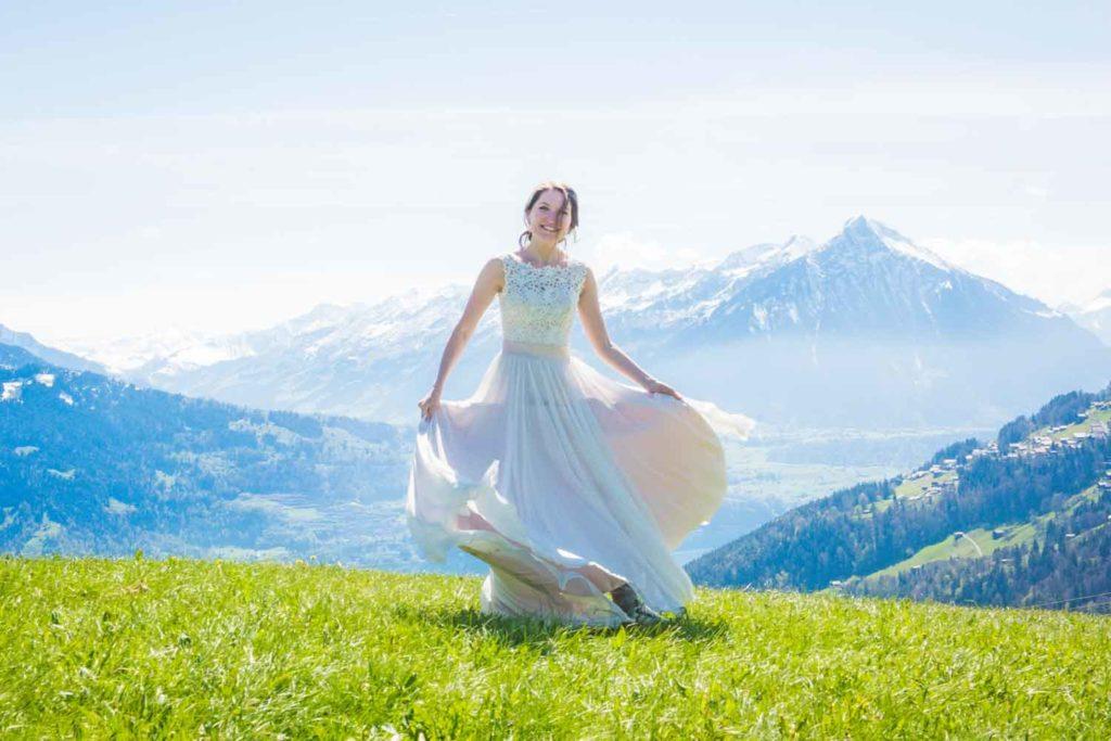 Post wedding photo shoot Interlaken Switzerland