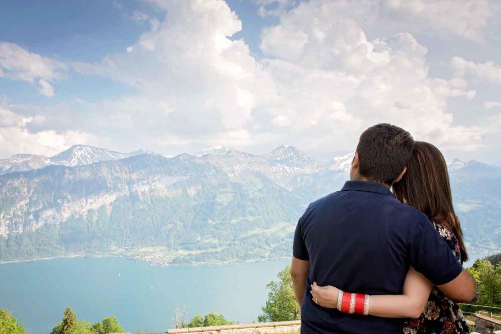 Honeymoon photo shoot in Interlaken