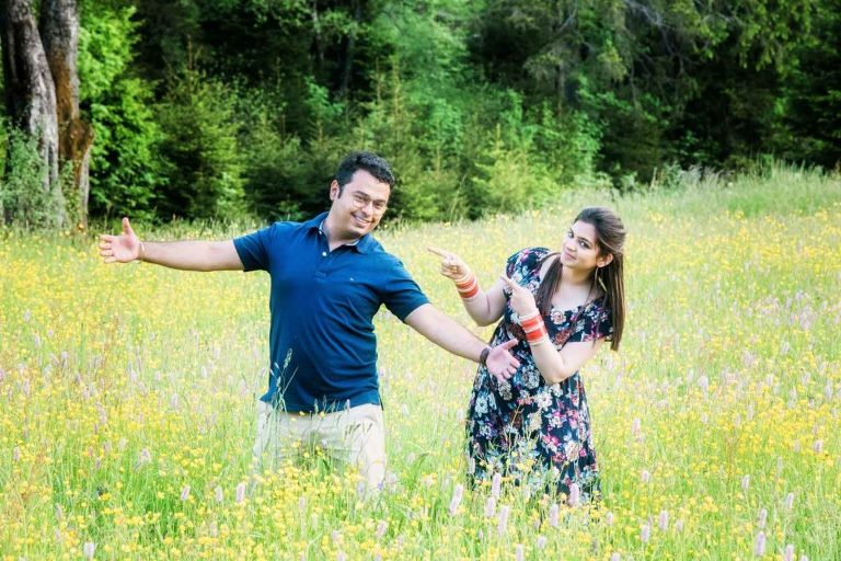 Honeymoon photo shoot in Interlaken