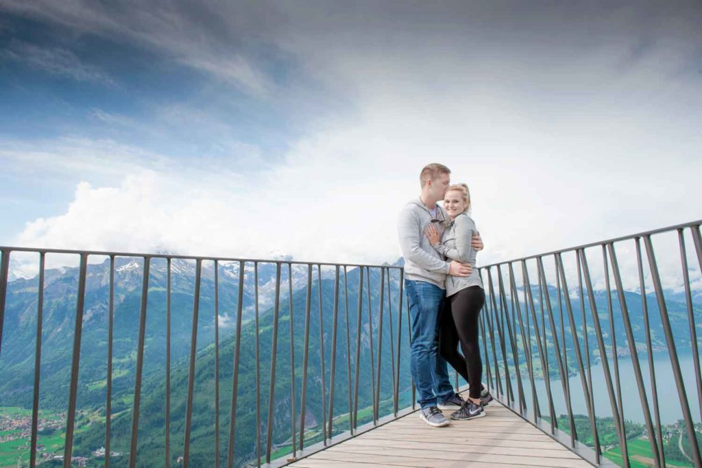 Wedding proposal on the Harder Kulm