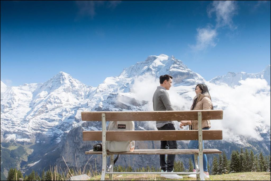 Marry me proposal in Mürren