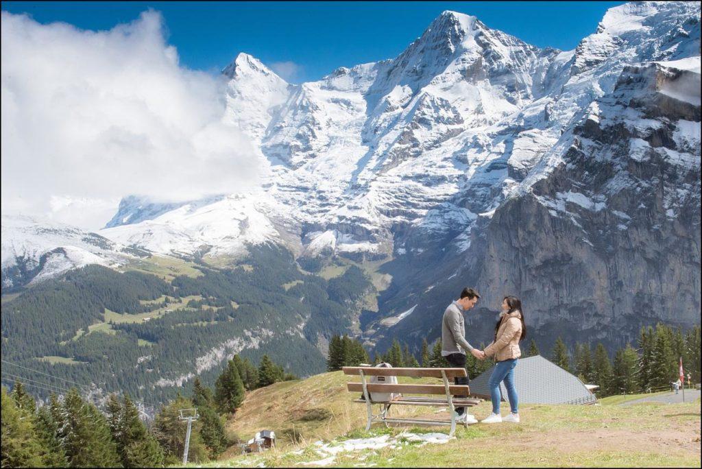 Marry me proposal in Mürren