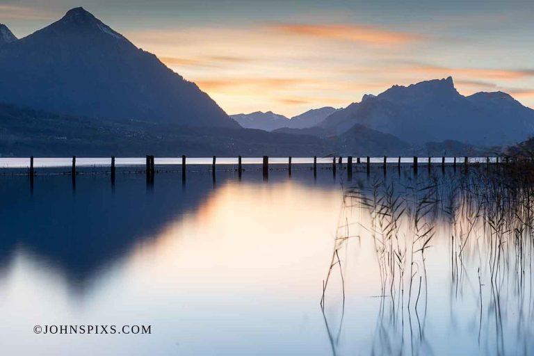 Sunset over Thun Lake