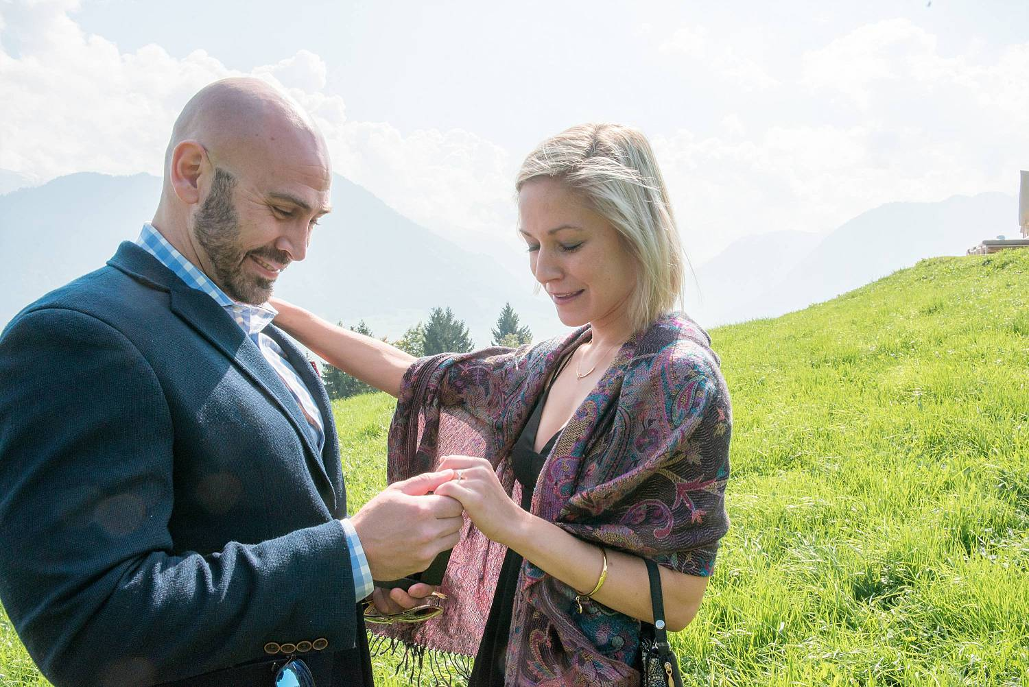 Surprise marriage proposal near Lucerne