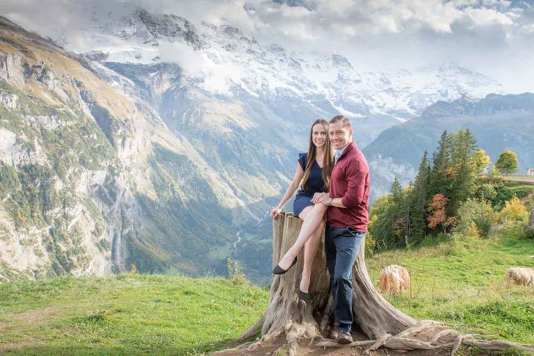 Surprise Engagement in Mürren