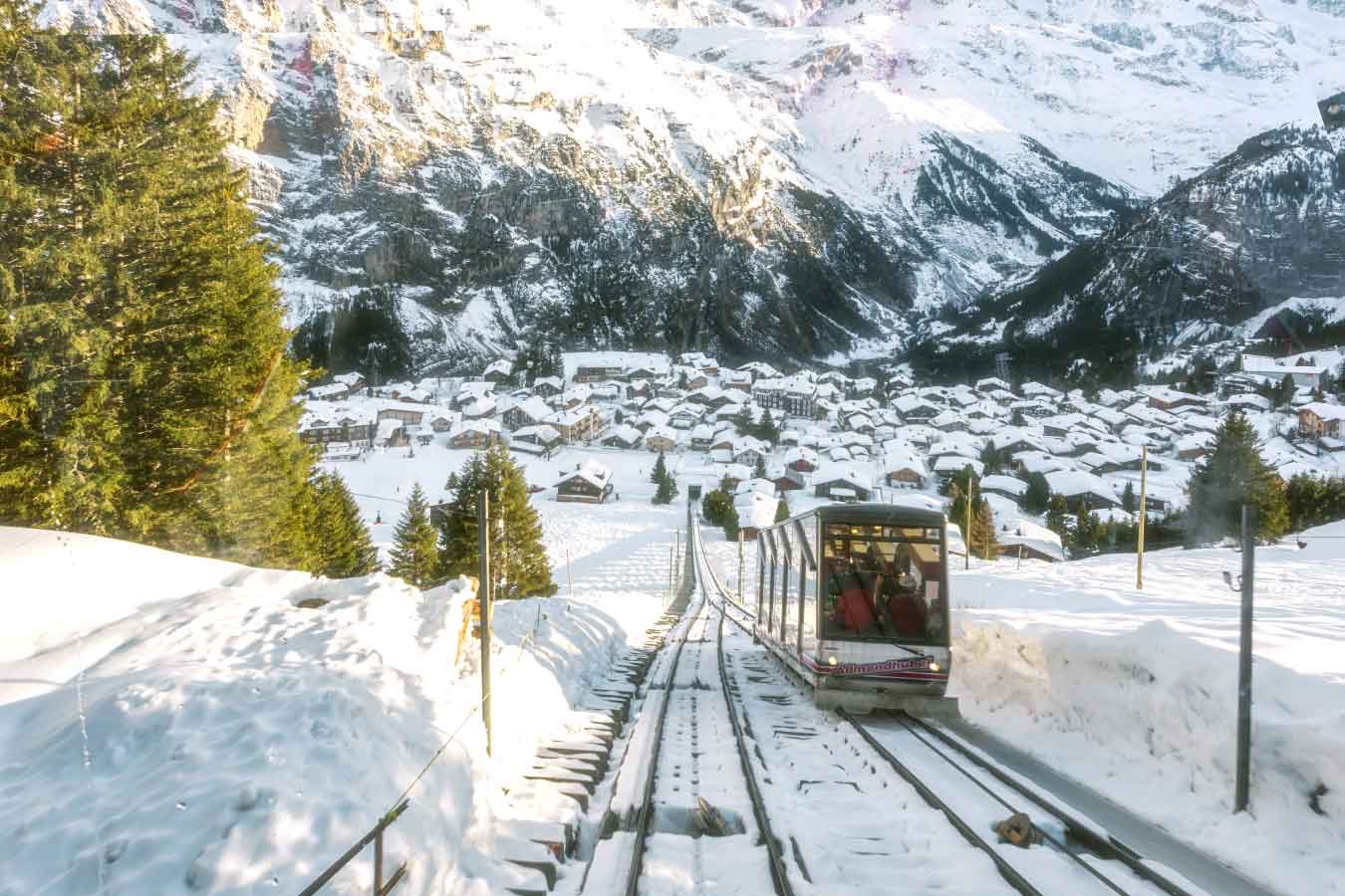 Mürren to Allmendhubel railway
