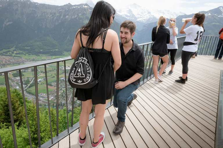 Surprise engagement on the Harder Kulm