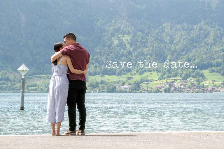 Photographer Surprise engagement in Interlaken