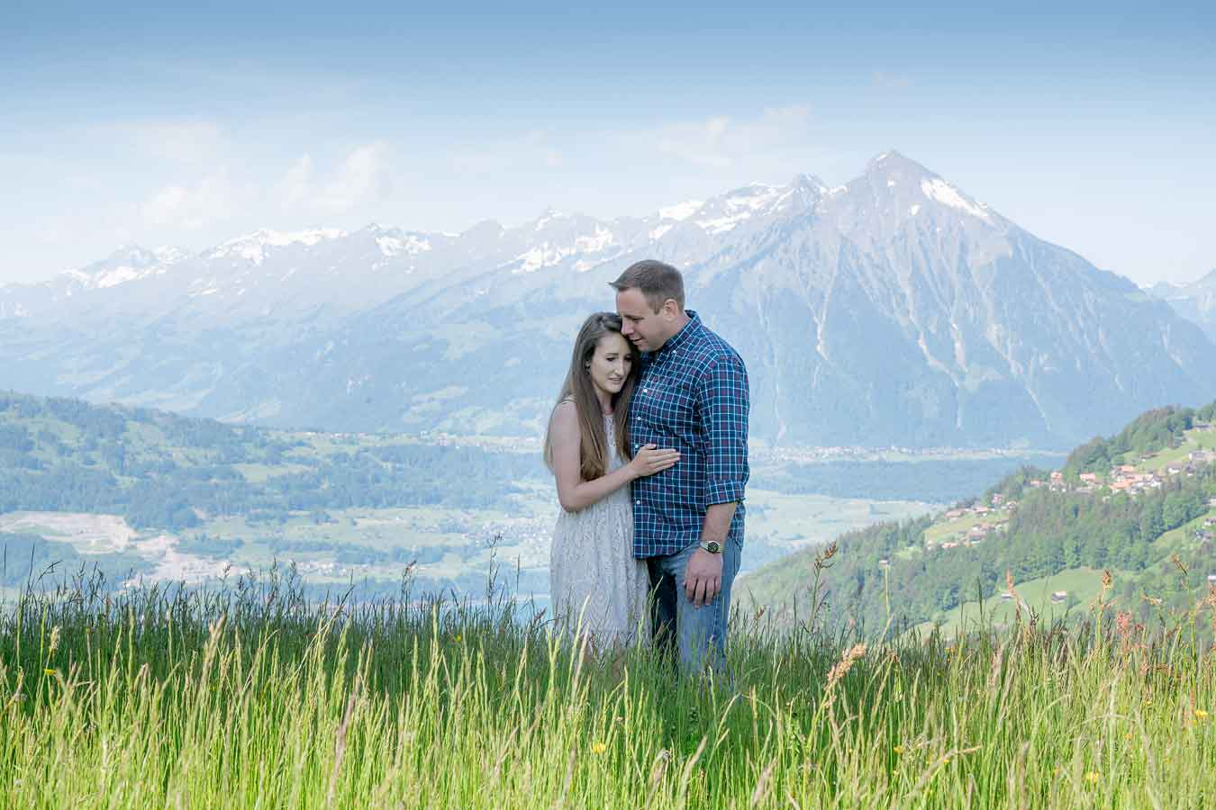 Engagement photo shoot Interlaken
