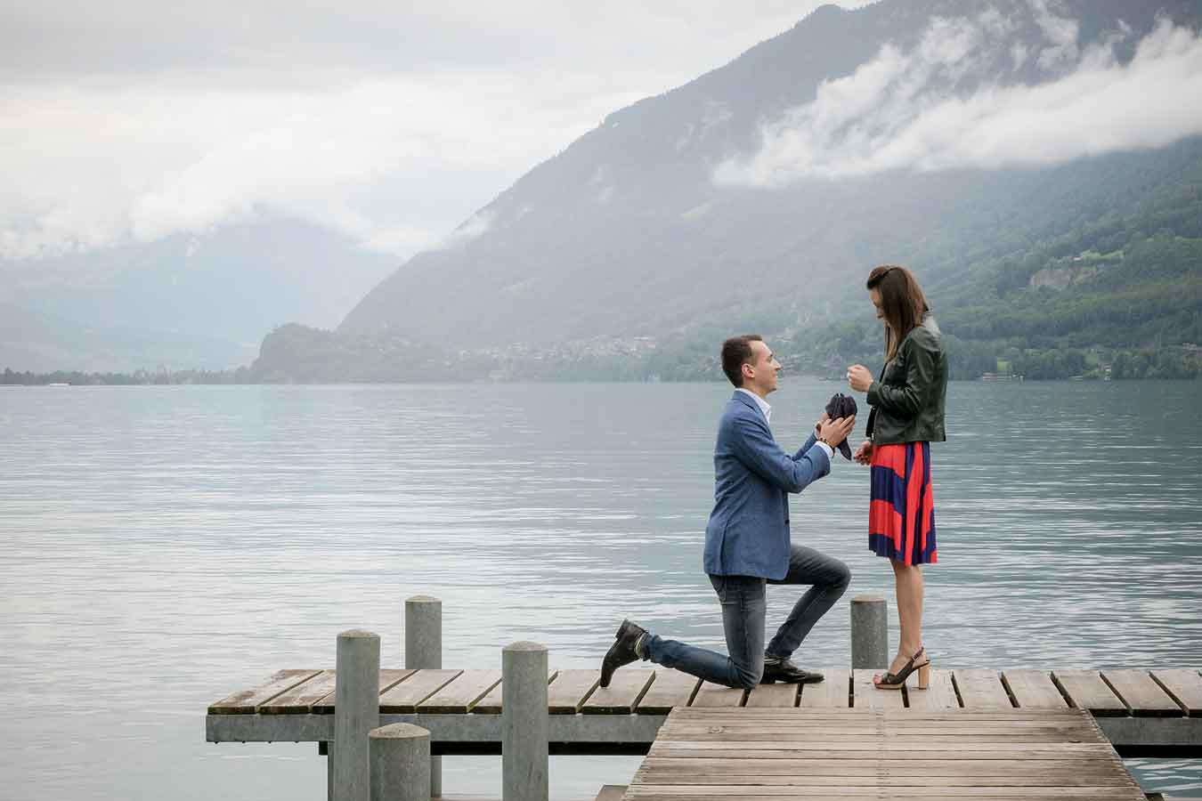 Surprise marriage proposal Iseltwald