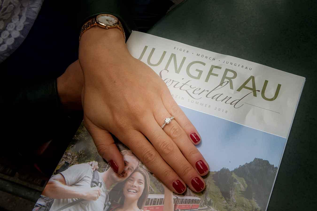 Surprise marriage proposal Interlaken