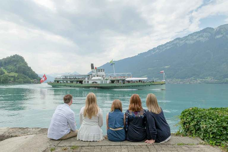 Paddle steamer on Lake Brienz