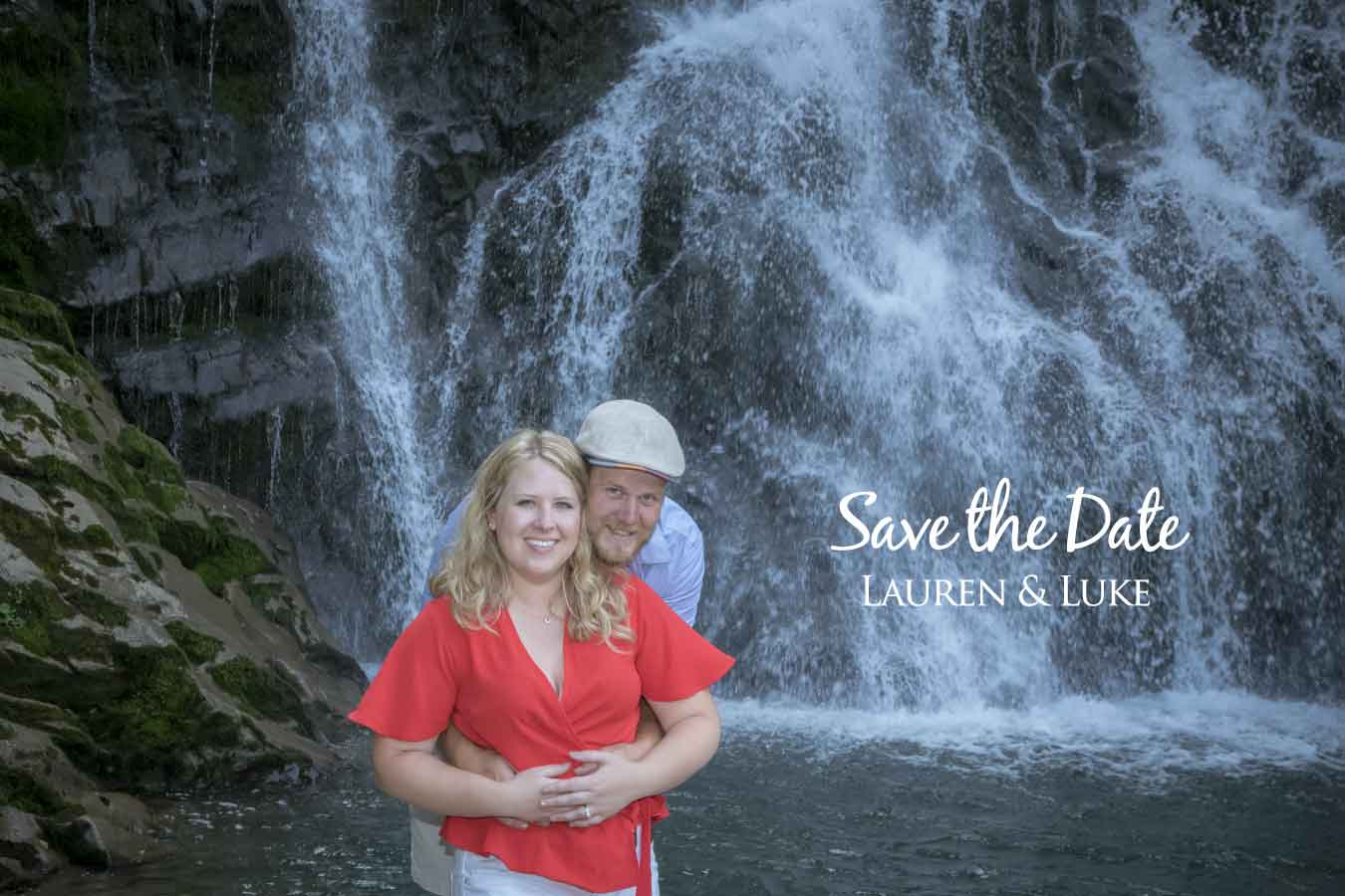 save the date engagement cards