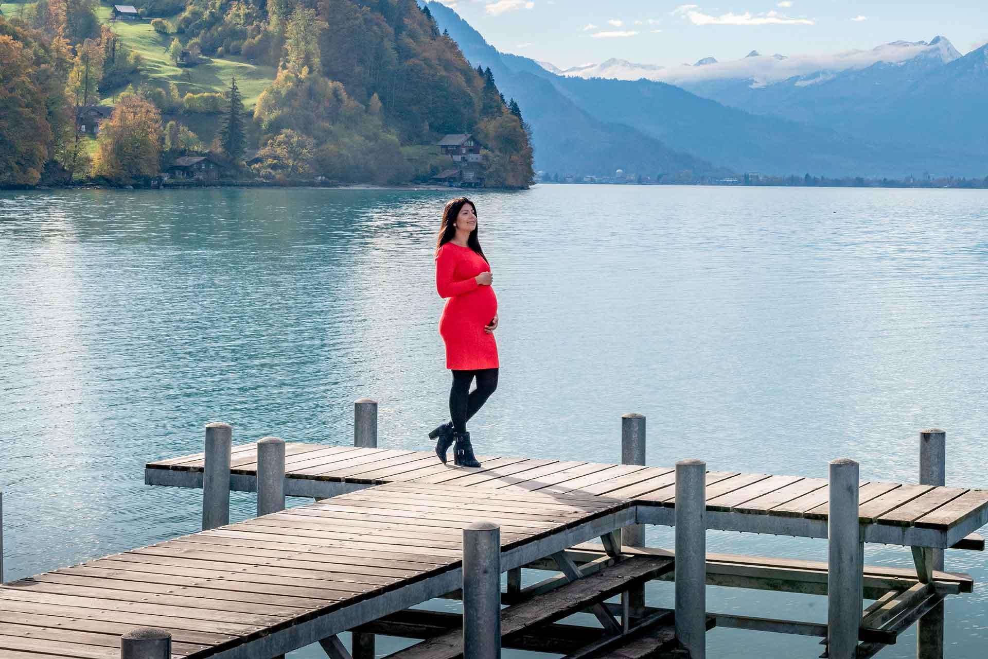 Maternity photo shoot in Switzerland