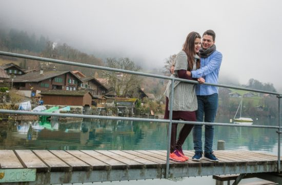 Surprise Engagement in Iseltwald, Switzerland