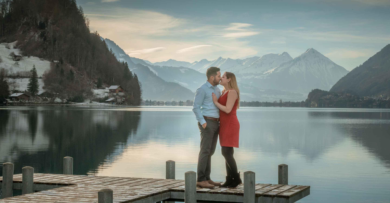 Romantic photo shoot in Iseltwald
