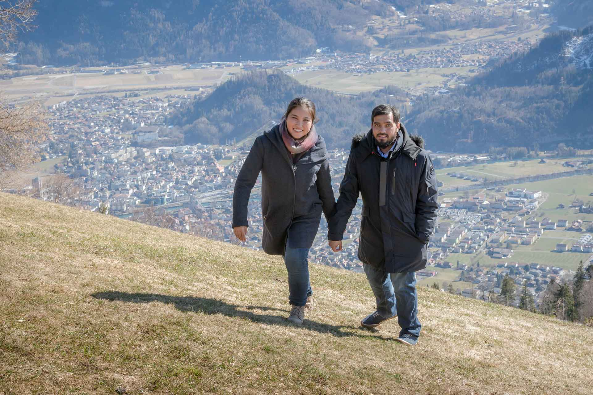 Couples photo shoot in Beatenburg, Switzerland