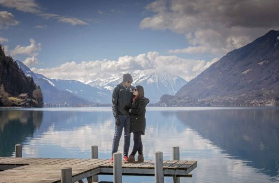 Couple photo shoot in the Swiss Alps
