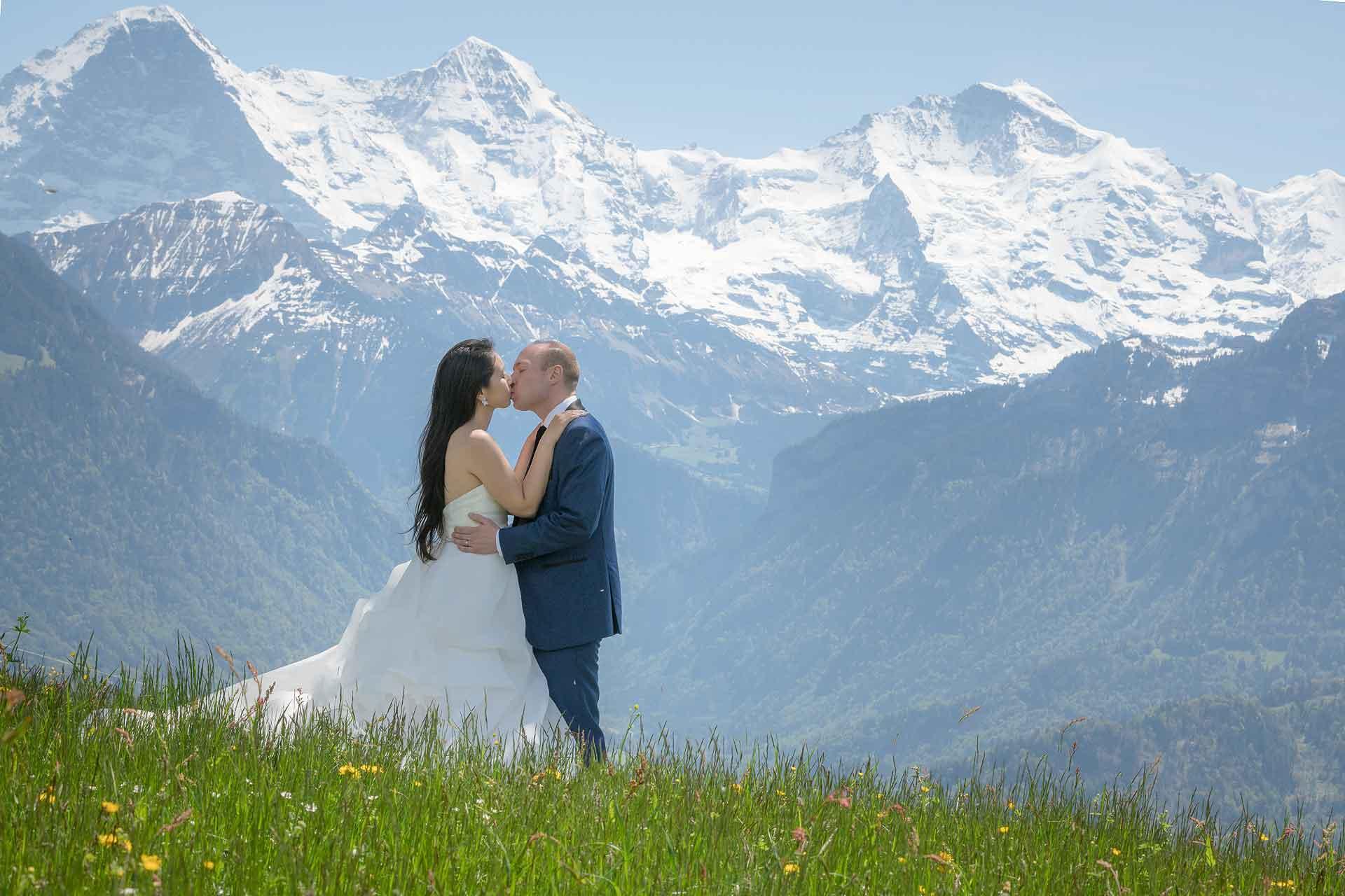 Swiss Alps Bridal Photo Shoot