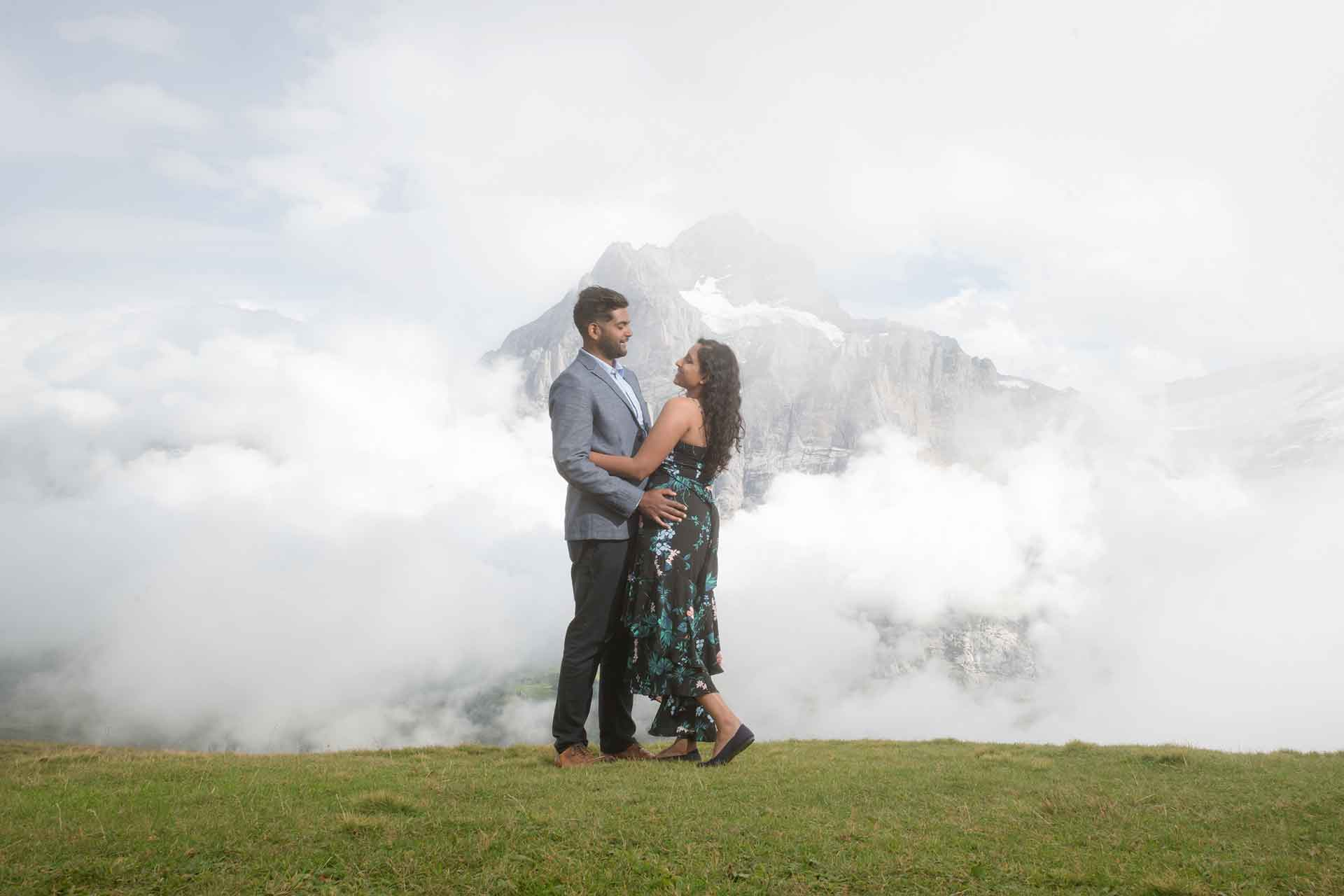 photo shoot in the clouds