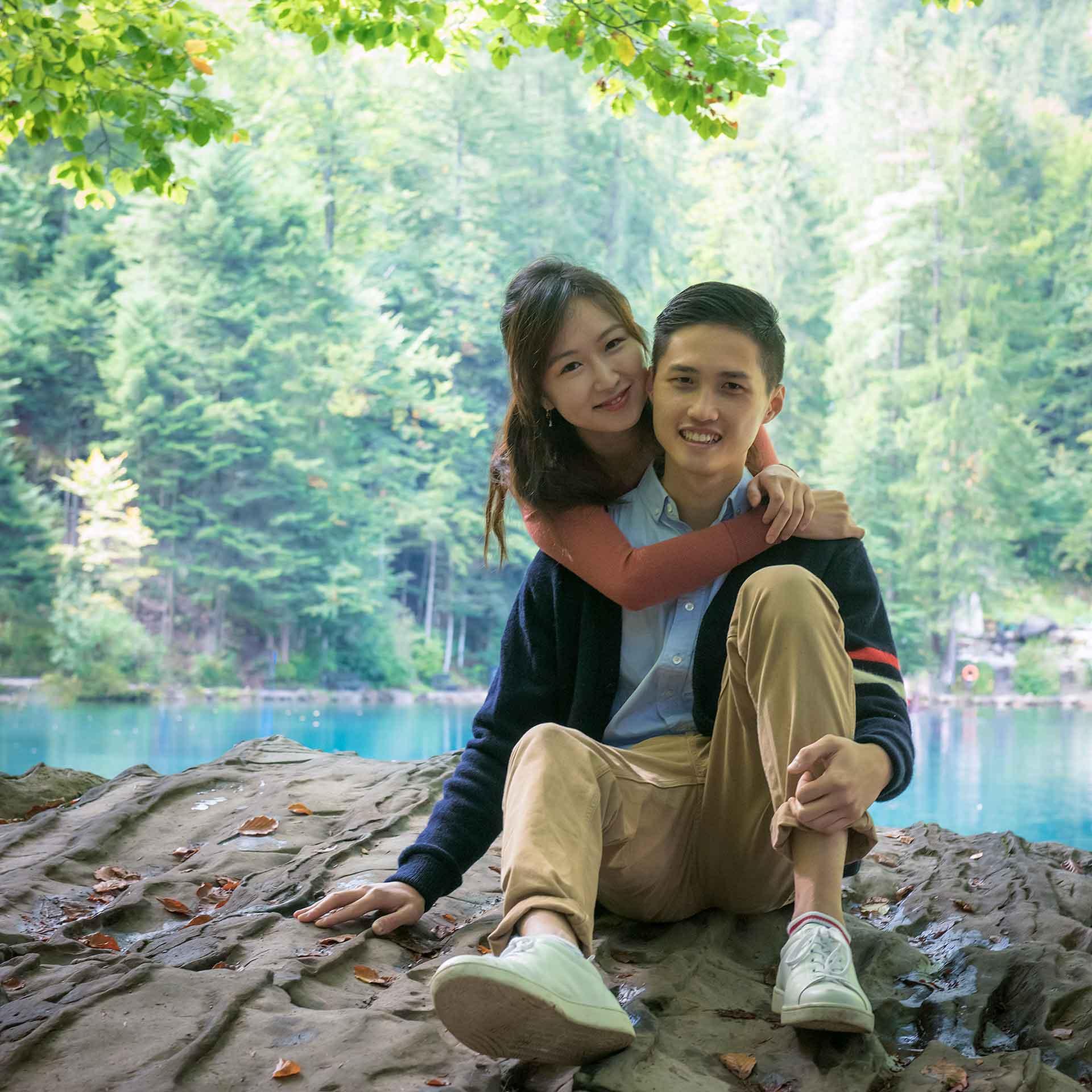 Engagement Blausee Lake