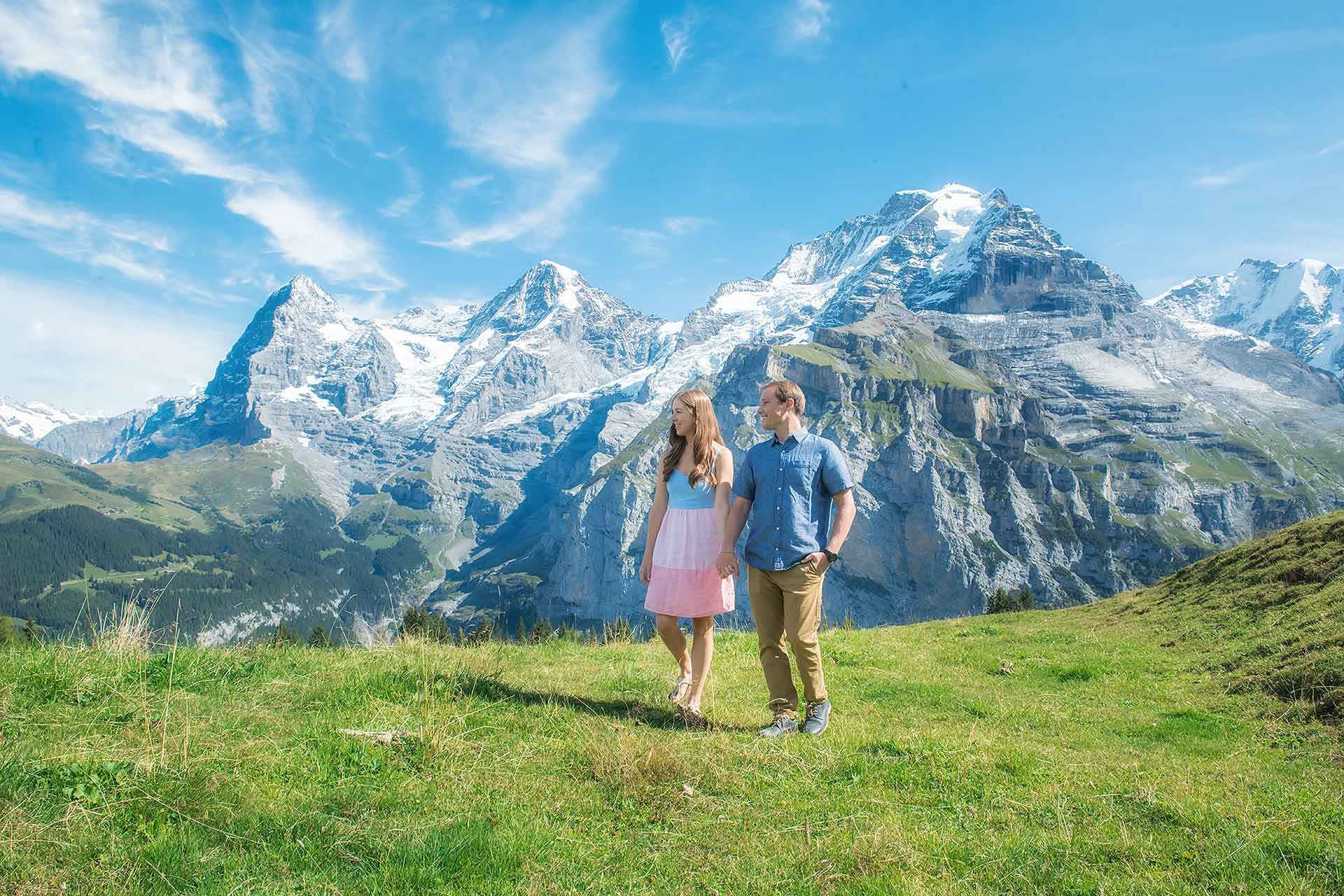 Photo shoot in the Swiss Alps