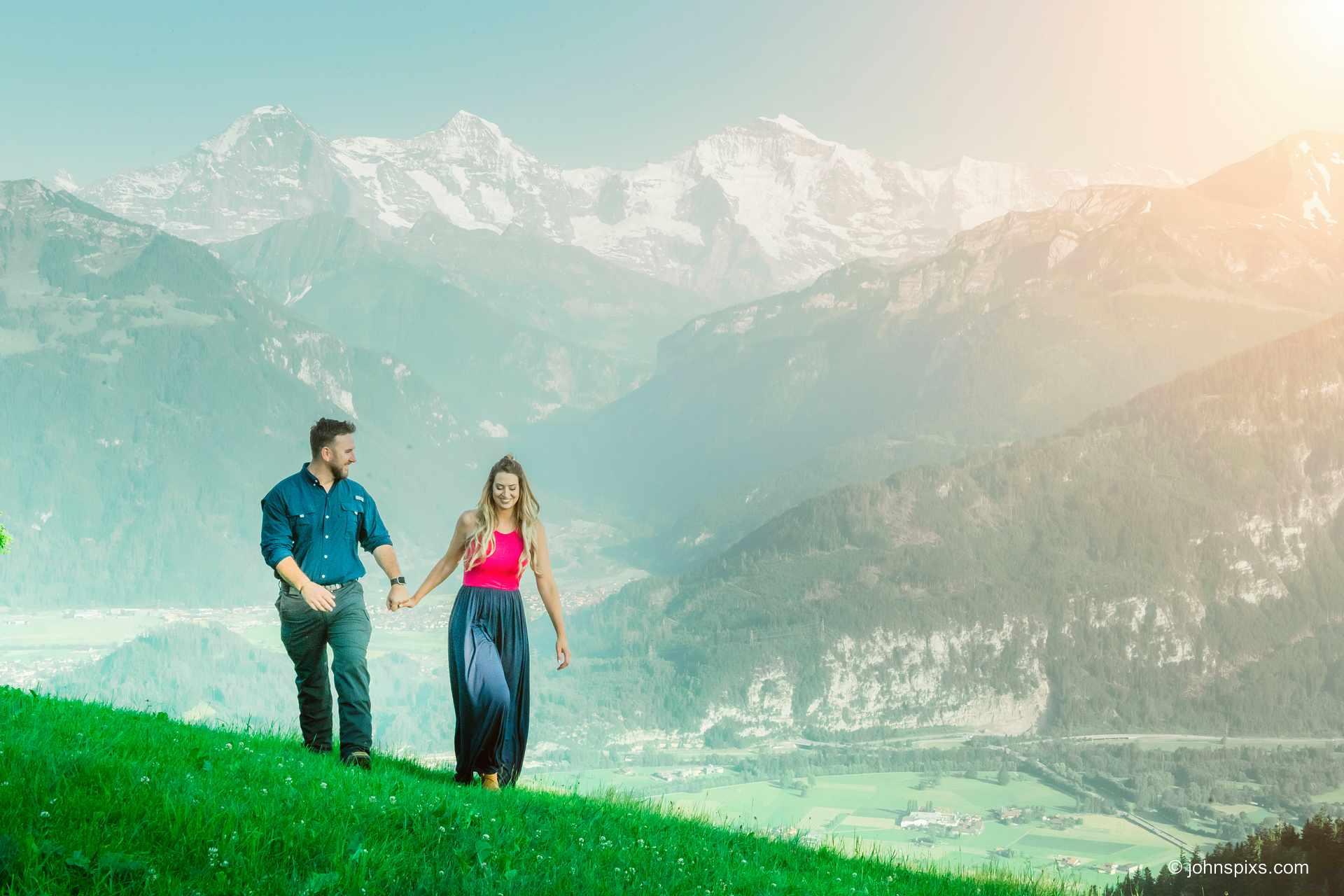 Couples photo shoot in Beatenburg, Switzerland