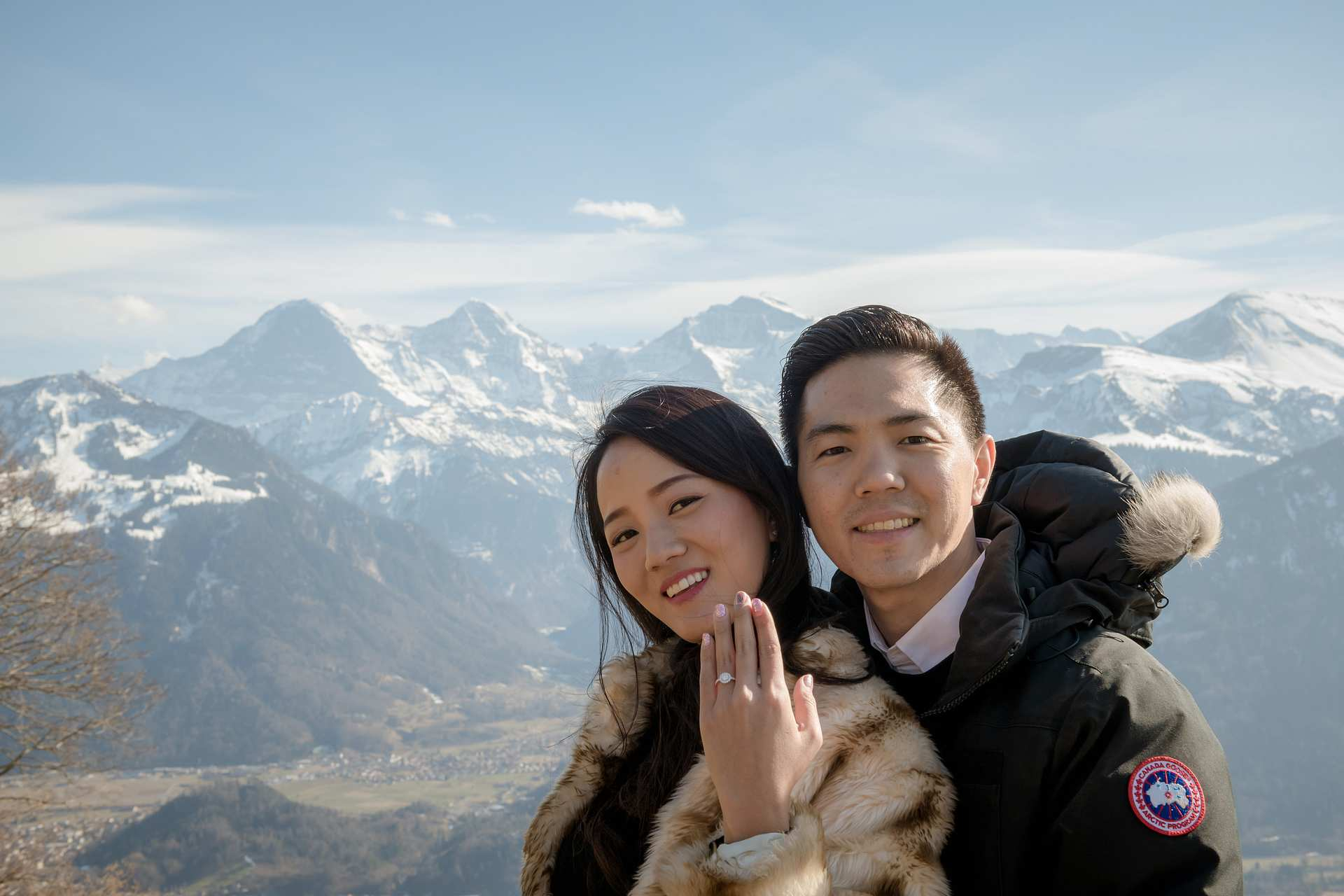Engagement in the Swiss Alps 3