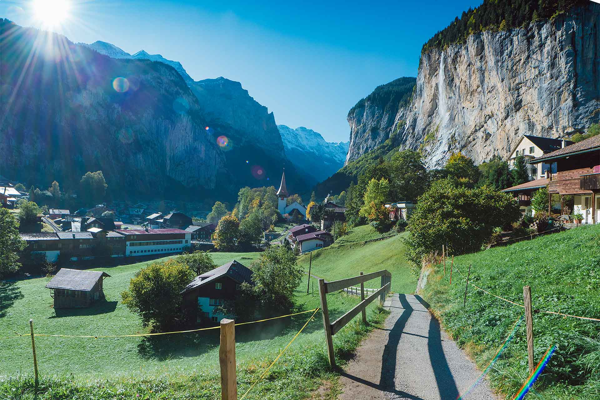 Photo location in Lauterbrunnen