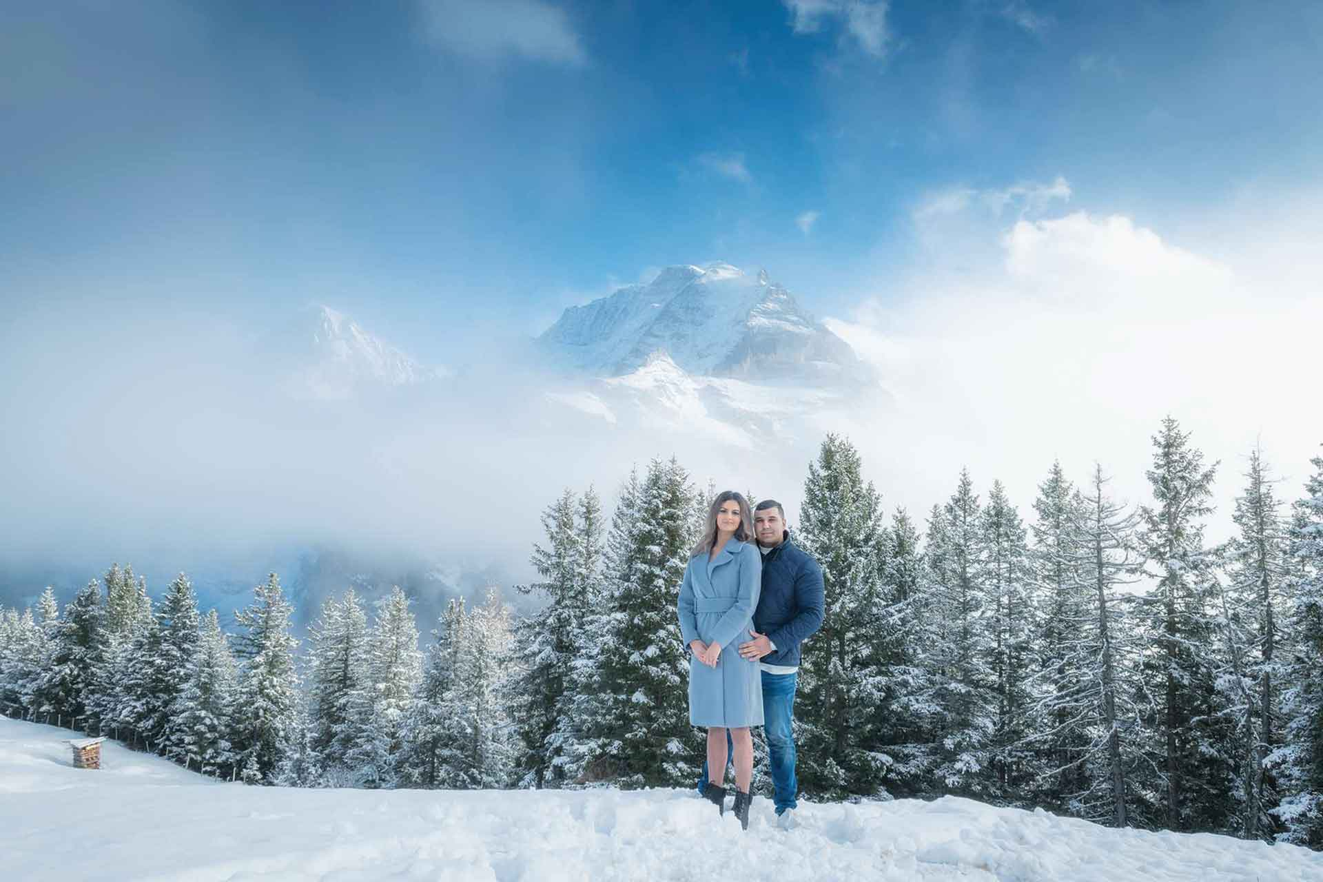engagement Swiss Alps