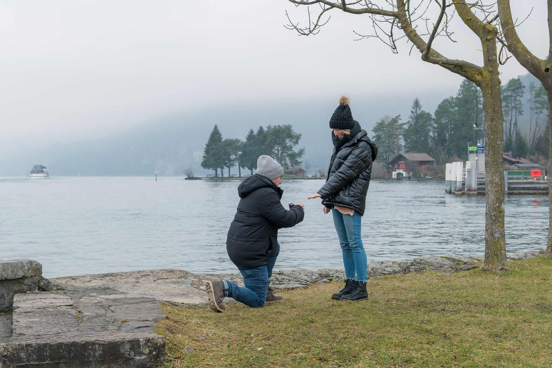 Surprise Engagement near Interlaken, Switzerland