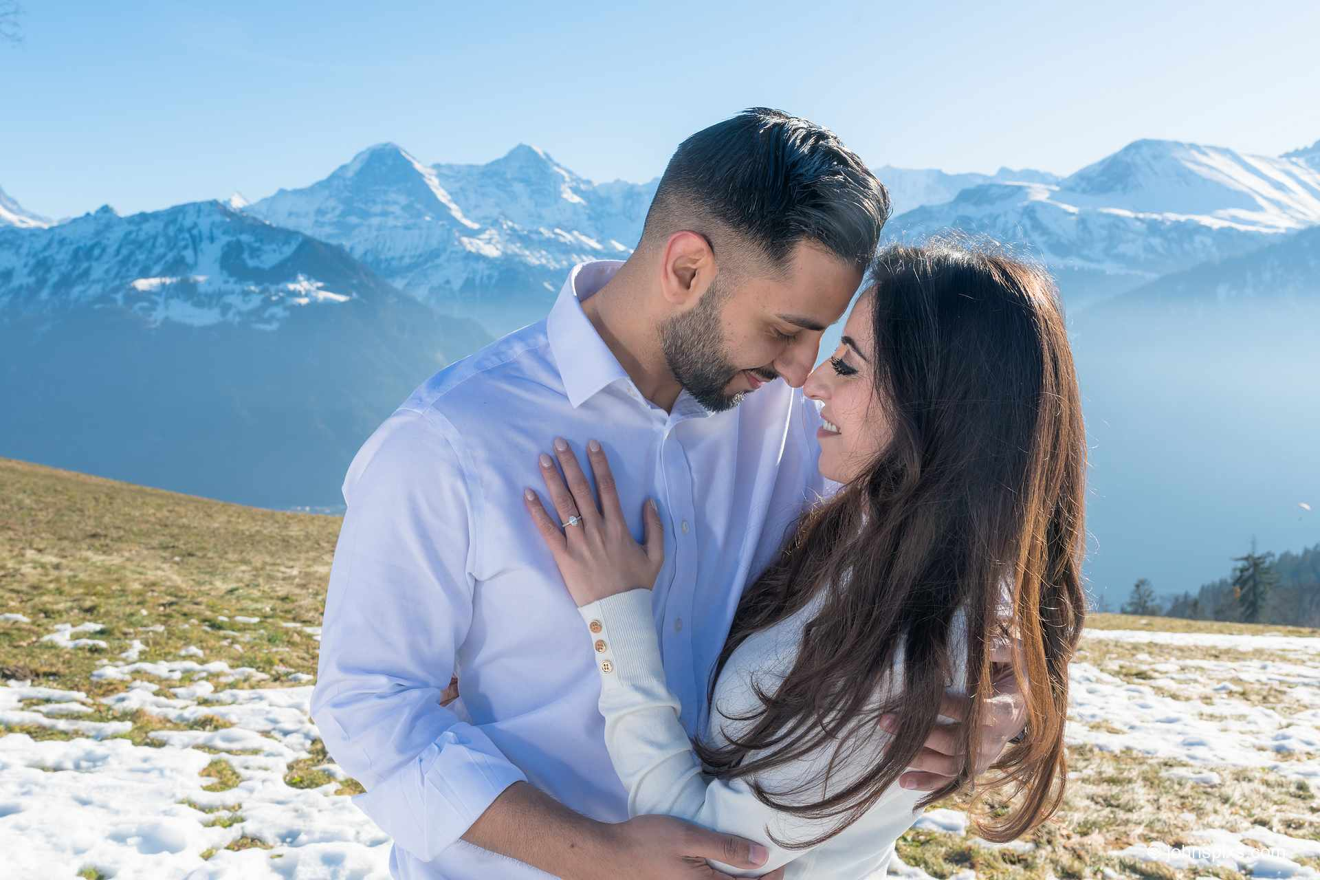 Engagement photo shoot near Interlaken