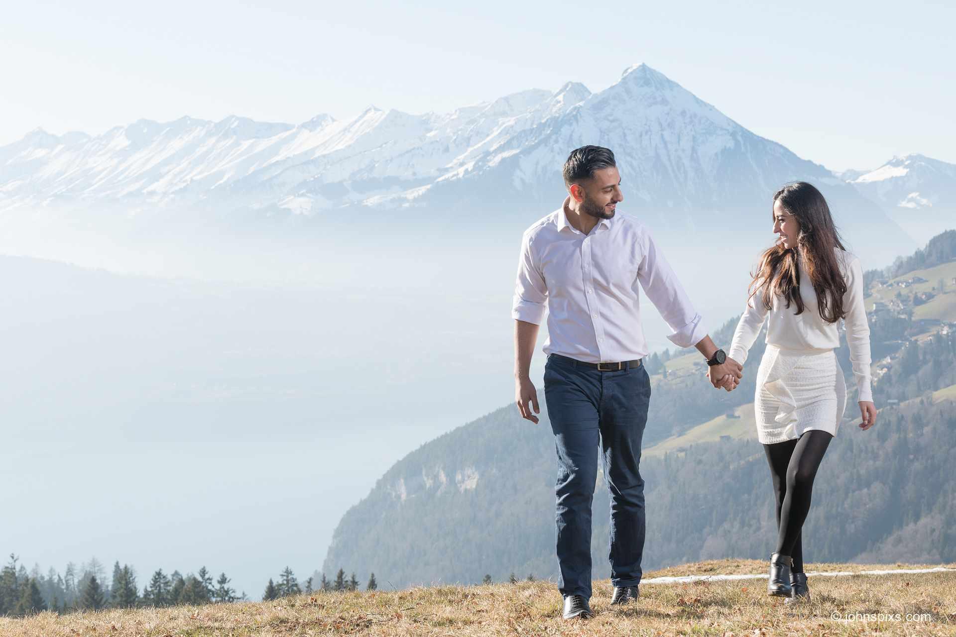 Couples photo shoot near Interlaken